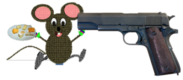 mouse and gun