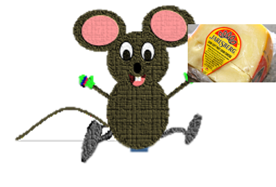 mouse and jarlsberg