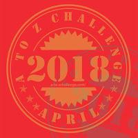 #AtoZchallenge 2018 traditional badge logo