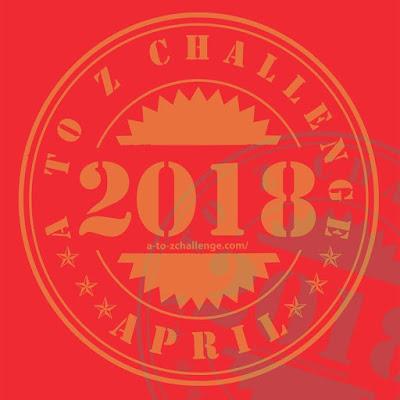 2018 #AtoZchallenge participation badge