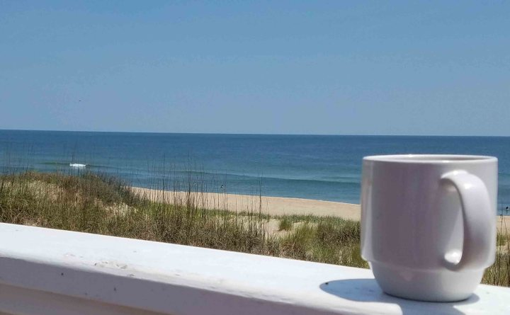 a cup of tea and a view